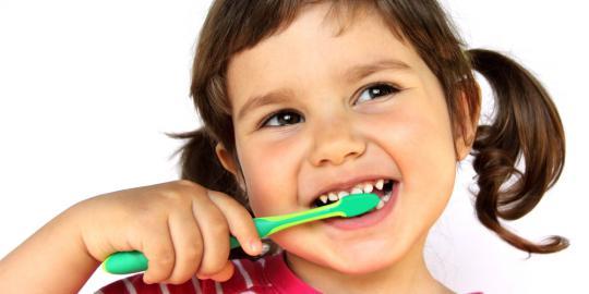 huller i tænderne børstes væk